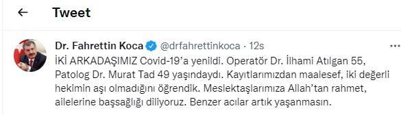 BAKAN KOCA KIRŞEHİRLİ DOKTOR MURAT TAD'LA İLGİLİ AÇIKLAMA YAPTI